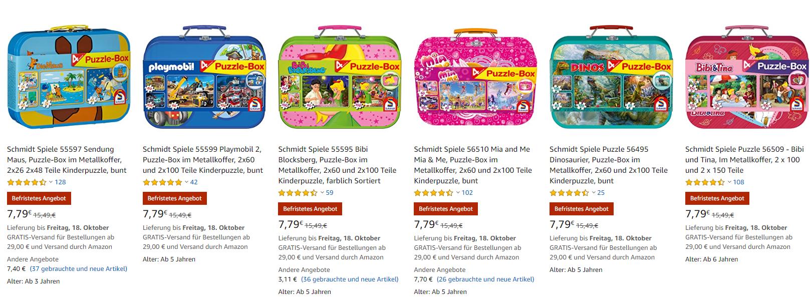 Puzzelbox in metalen koffer (ook playmobil) voor €7,79 @ amazon.de