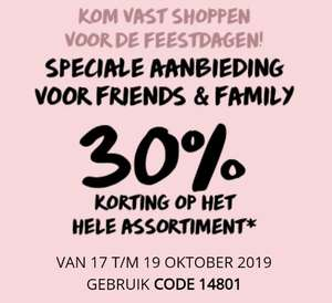 30% Friends & Family korting