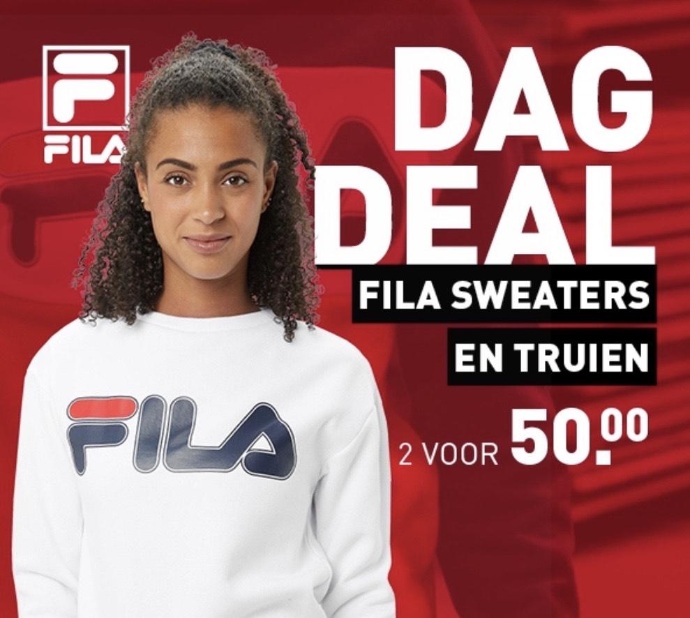 Dagdeal: 2 FILA truien voor €50 ipv €79,98/€99,98 @ Perry Sport