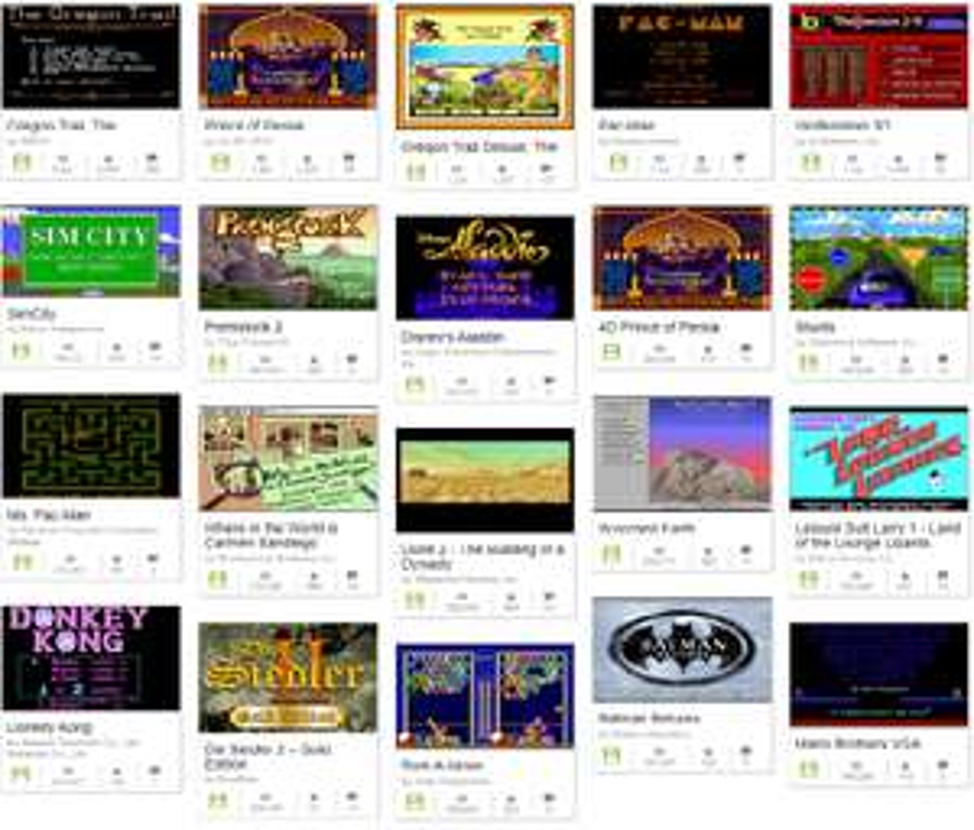 Gratis MS-DOS klassieke games spelen @ archive.org