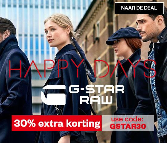 G-STAR dames & heren 70-80% korting + 30% EXTRA @ Maison Lab