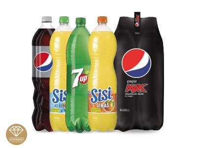 8 flessen liter Pepsi van 1,5 liter voor 5,99