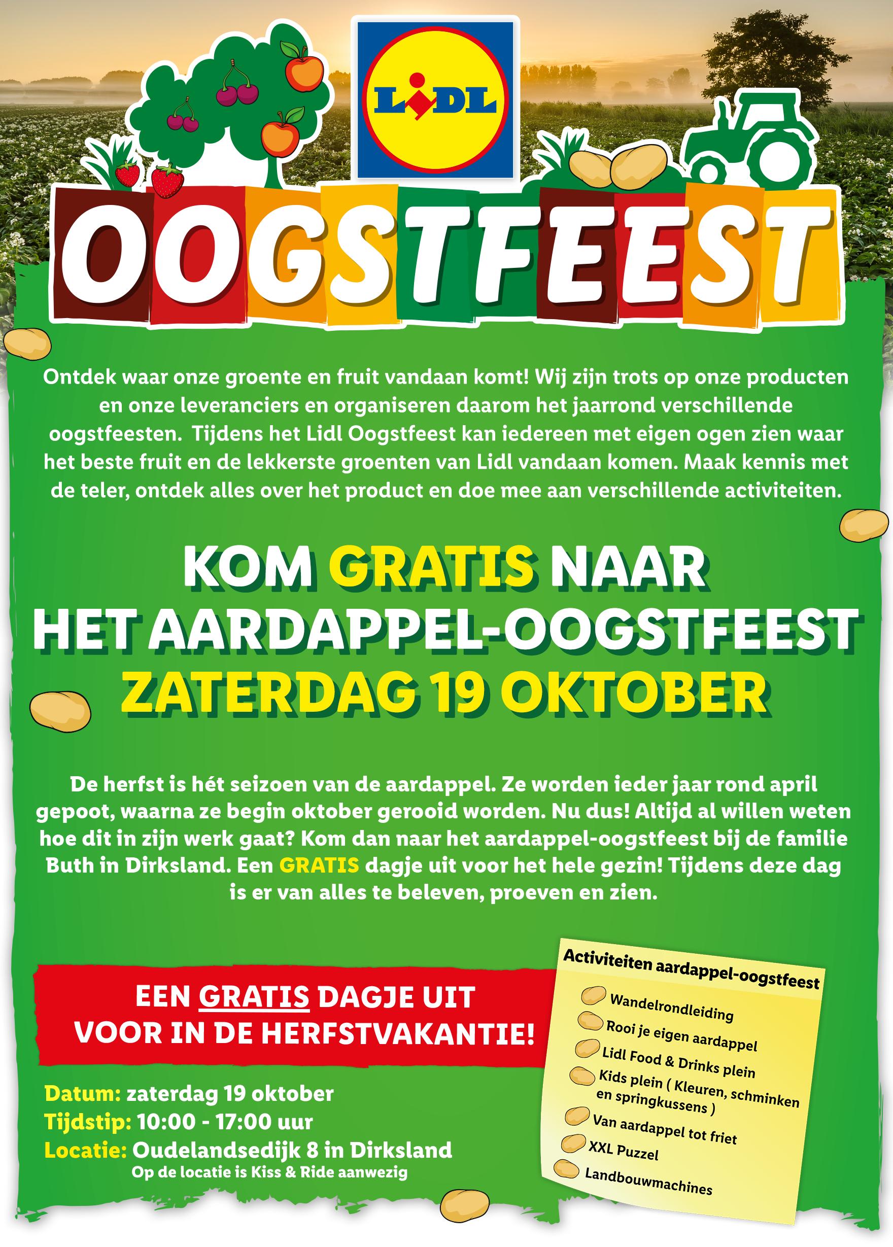 Gratis Evenement: Lidl Aardappel-Oogstfeest