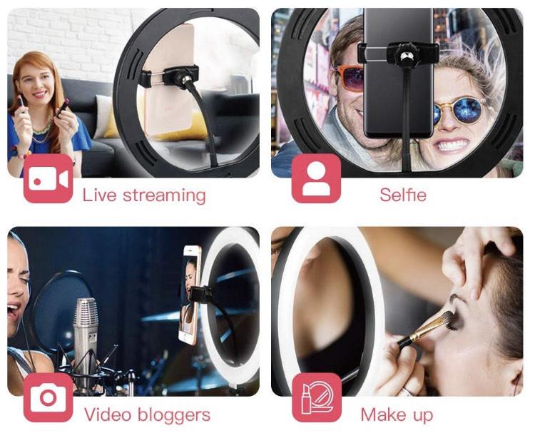 Mobiel Selfie lamphouder + Statief (Tik Tok)