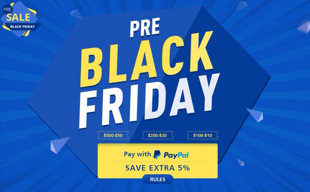 Pre Black Friday: 5% korting op bijna alles met PayPal + diverse coupons