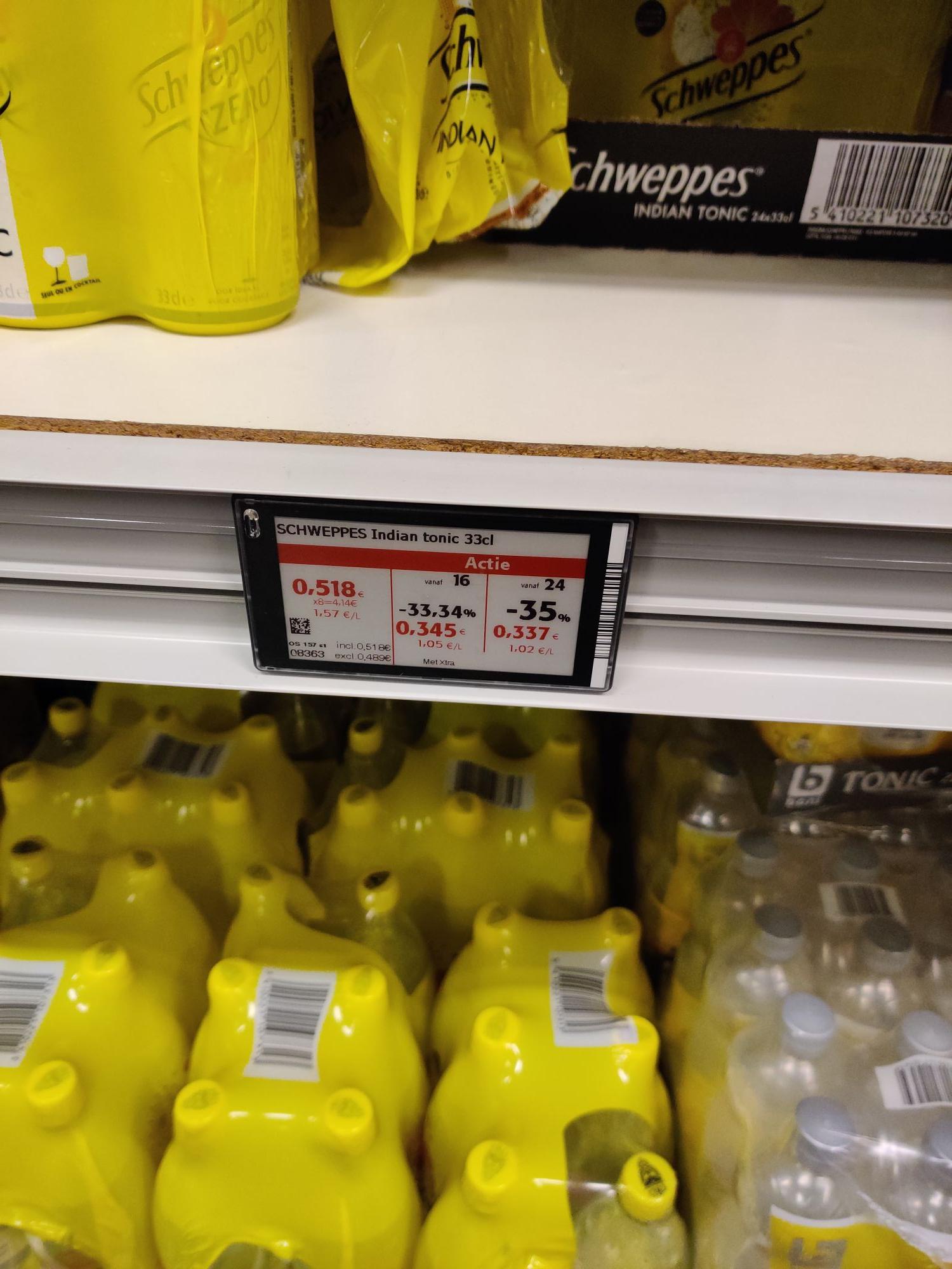 [GRENSDEAL BELGIË] Schweppes indian tonic 33cl blikjes, €0,34 per stuk vanaf 24