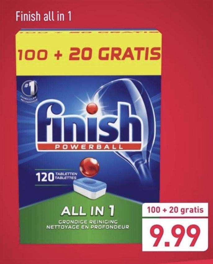 Finish All in 1 - 120 vaatwastabletten - weekendactie Aldi