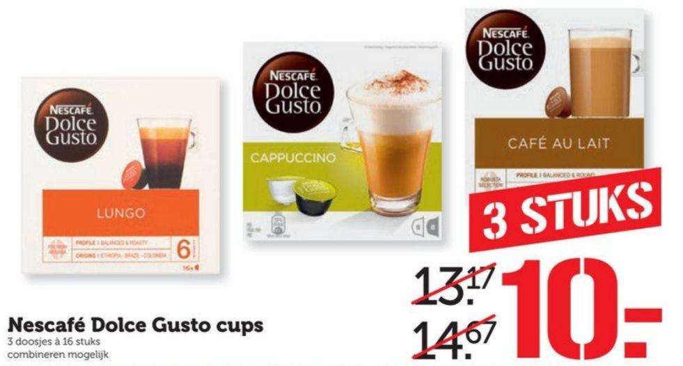 3 doosjes Nescafé Dolce Gusto voor €10 @Coop
