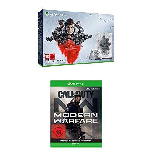 Xbox One X 1TB - Gears 5 Limited Edition Bundle + Call of Duty: Modern Warfare + Steelbook