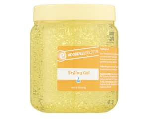 Styling Gel extra strong 2x500ml voor €0,69 | 2x1000ml voor €0,99 @ Etos