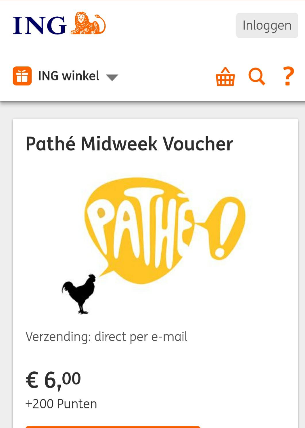 Pathe midweek ticket nu slechts 6 euro + 200 rentepunten