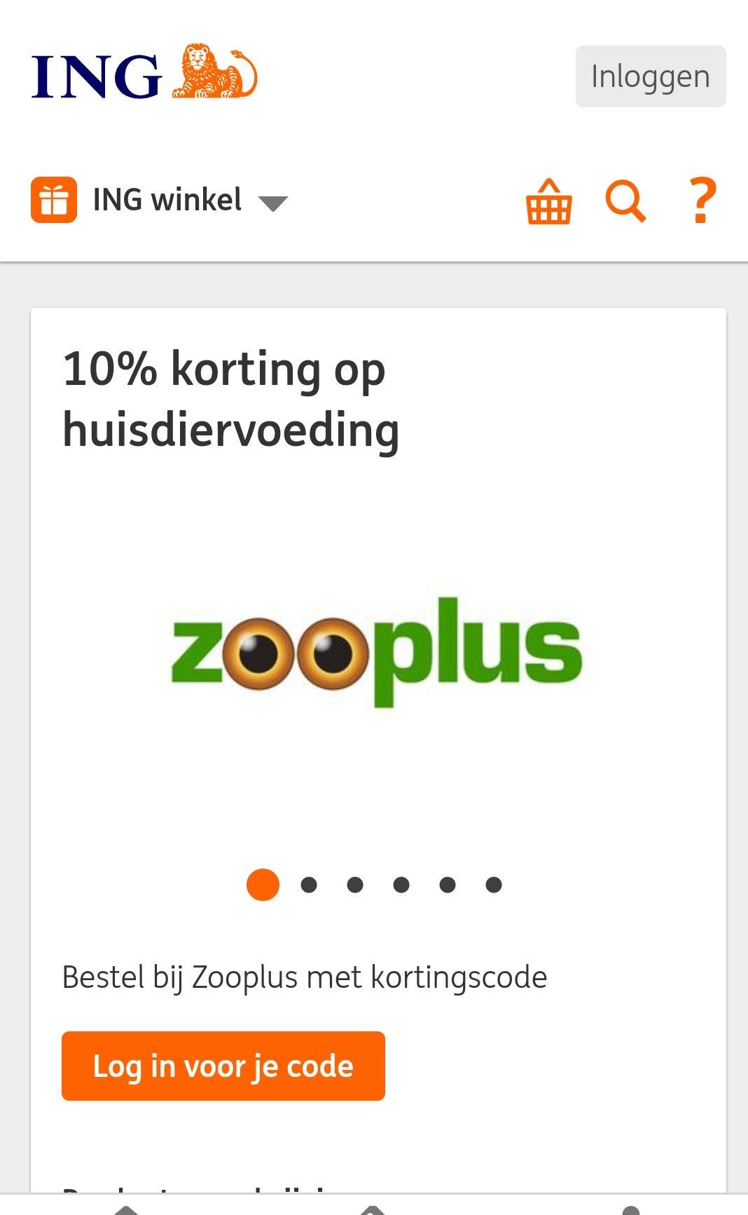 Korting bij Zooplus bij besteding vanaf 19 euro met gratis code via ing rente winkel