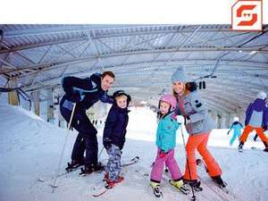 SnowWorld Voucher 4 uur Skien of Snowboarden (inclusief burger of pizza menu)
