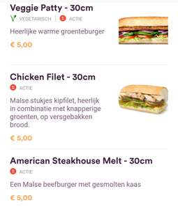 [o.a Schiphol & Amsterdam Bijlmer Arena] Footlong Sub voor €3 & goedkope Burger King