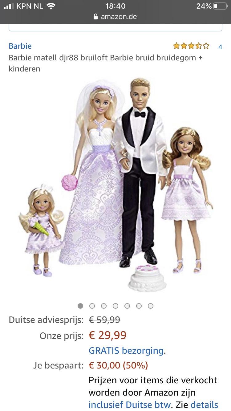 Barbie bruidspaar