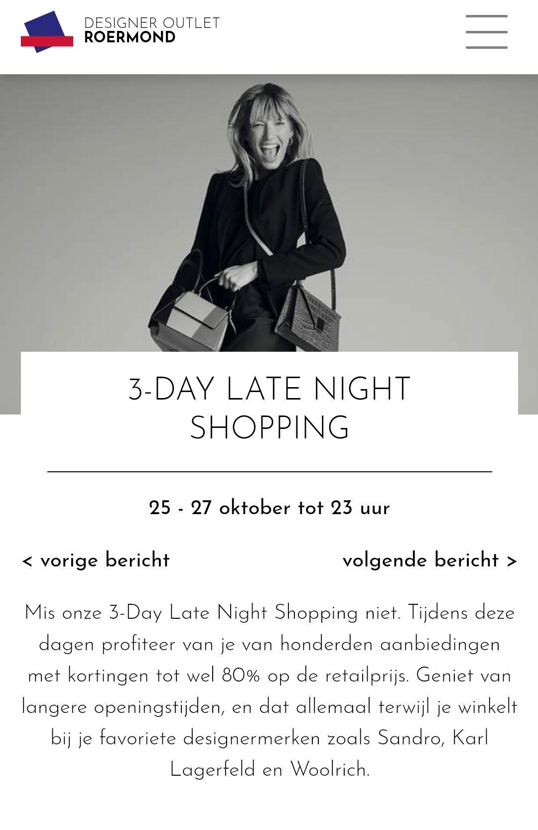3 daagse uitverkoop @ Designer Outlet Roermond