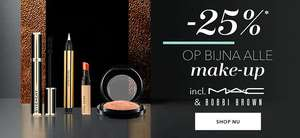 Douglas 25% korting MAC Bobbi Brown etc.