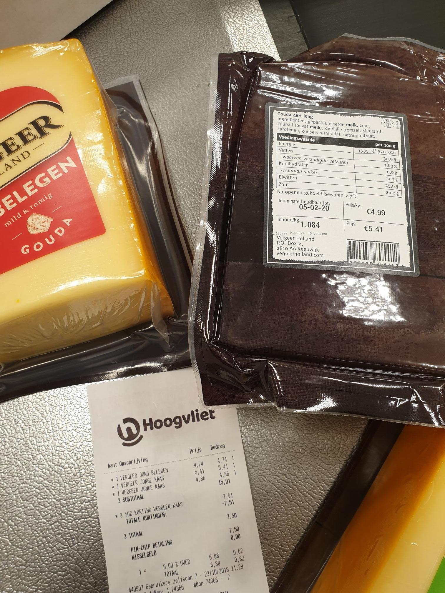 Prijsfout stukken kaas van vergeer @ hoogvliet