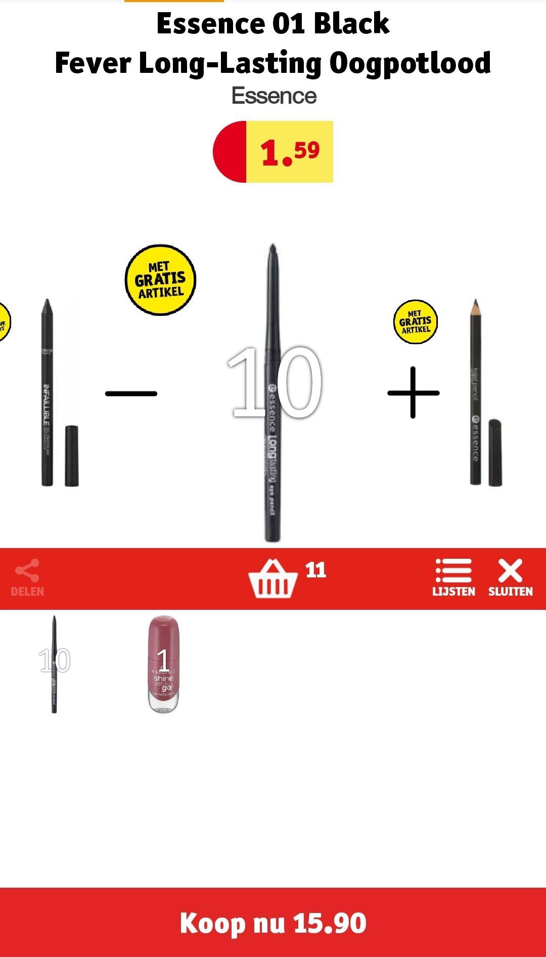 Gratis Essence nagellak bij aankoop van €15 aan make-up @ Kruidvat