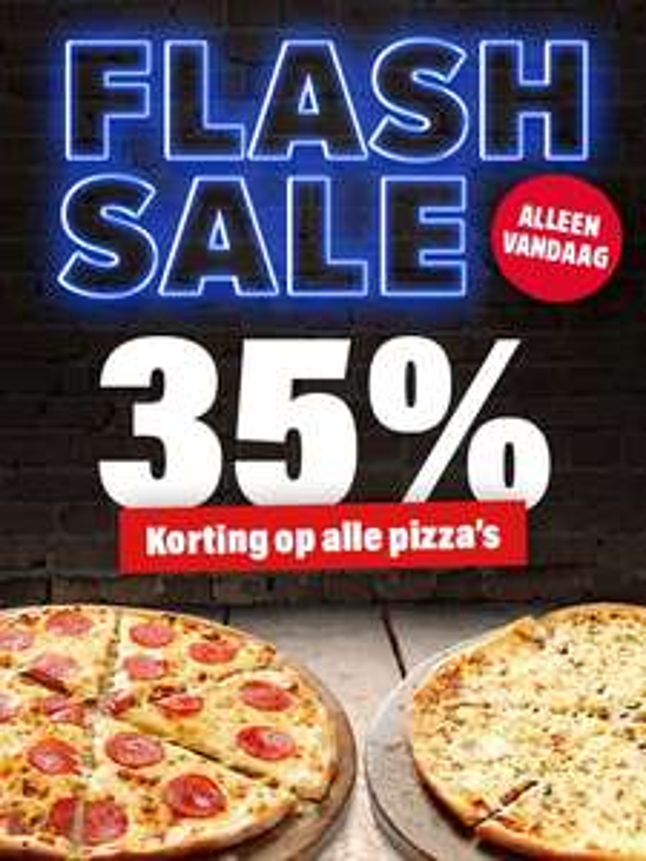Flash sale bij Domino's, 35% korting! (24 okt)