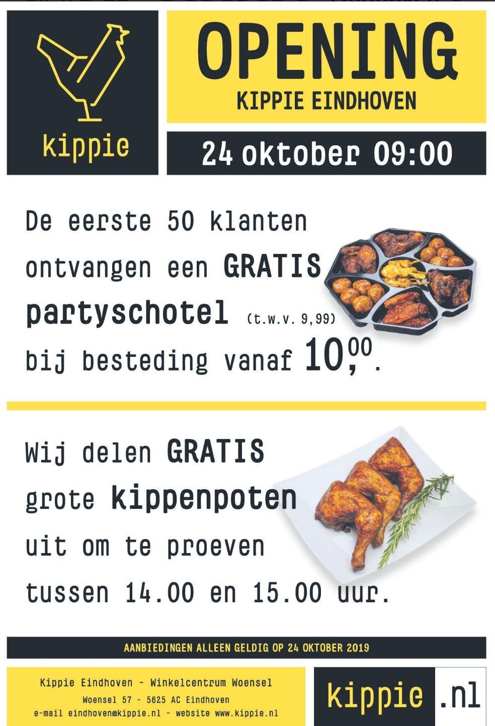 (Lokaal Eindhoven) Gratis kippenpoten proeven op 24okt tussen 14.00 en 15.00