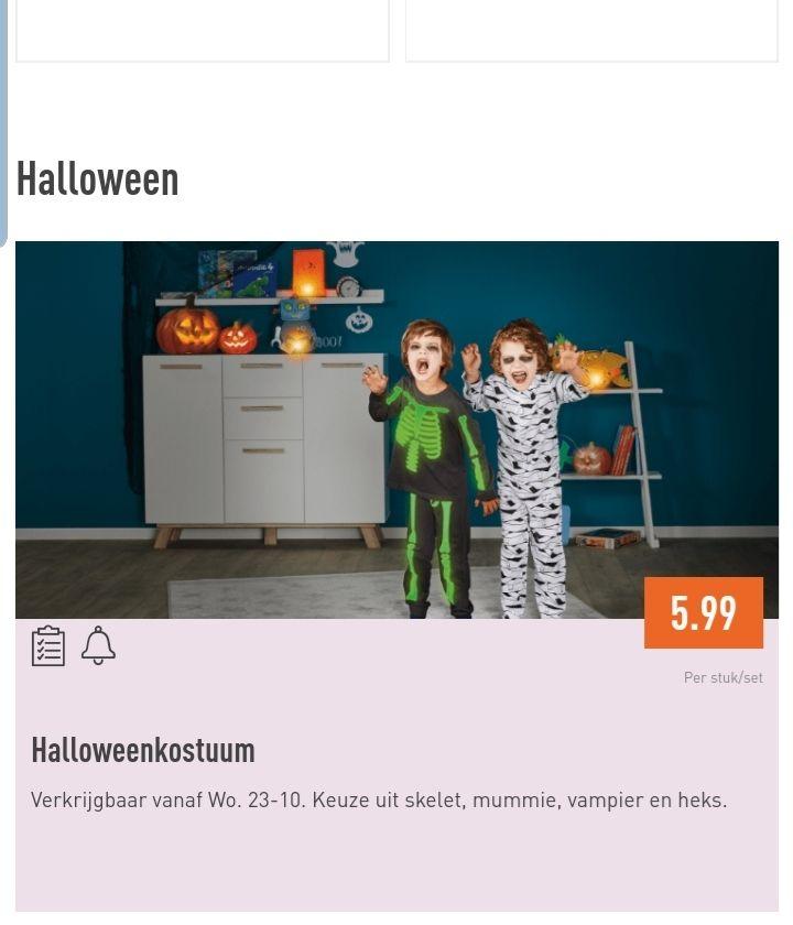 Halloweenkostuum voor €5,99 @ Aldi