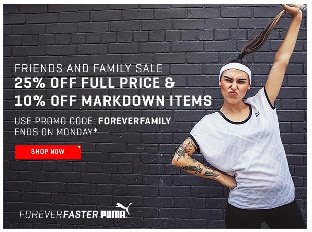 10% EXTRA korting op sale + 25% op nieuwe collectie @ PUMA (met code)