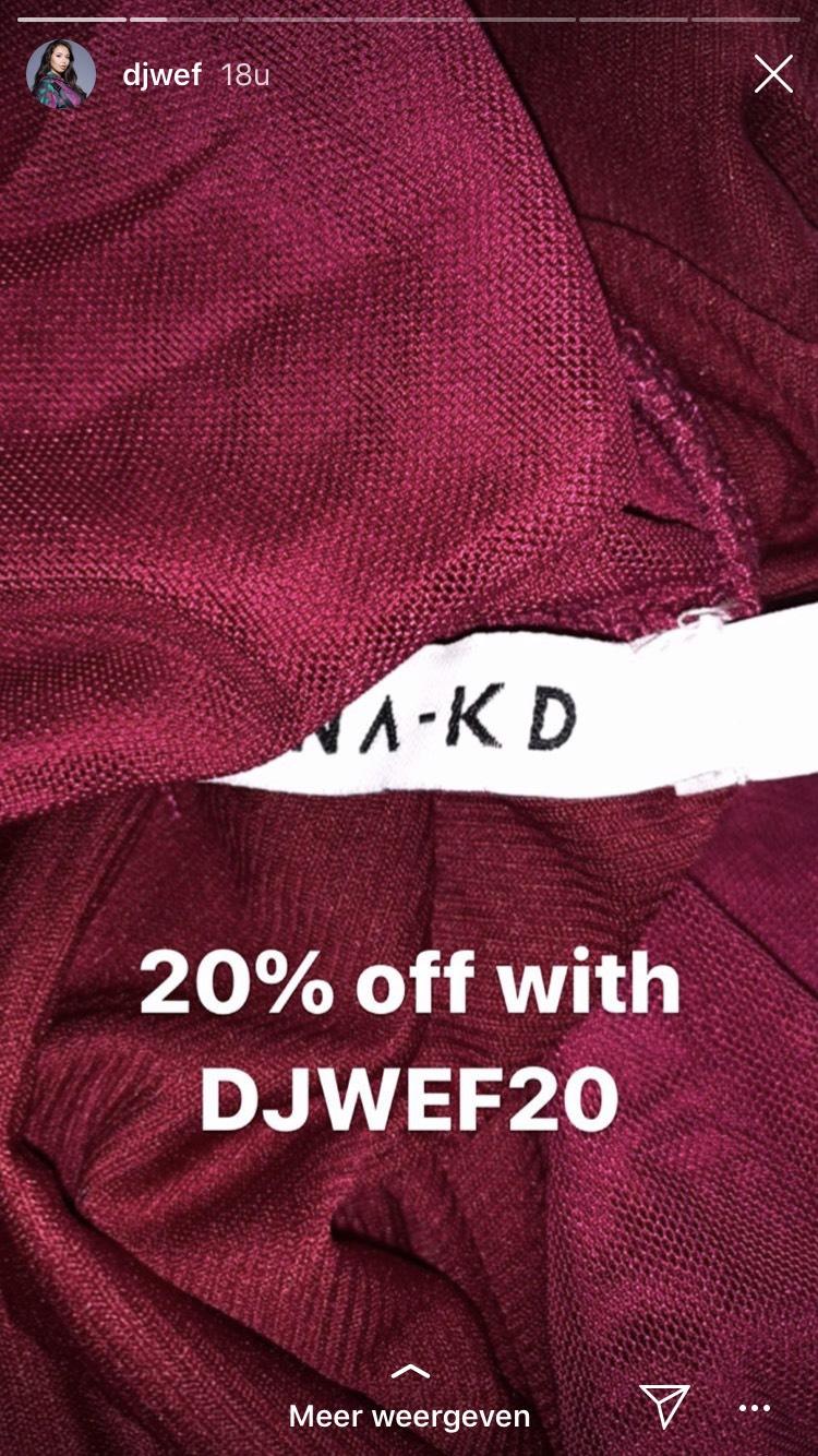 20% korting bij NA-KD