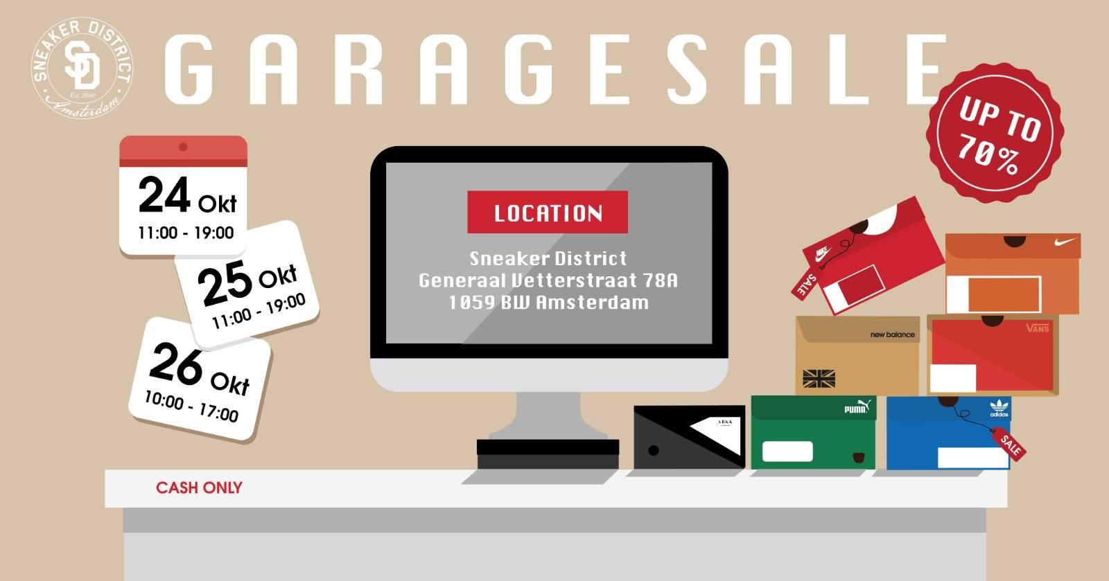 garage sale sneaker district korting tot 70% (lokaal)