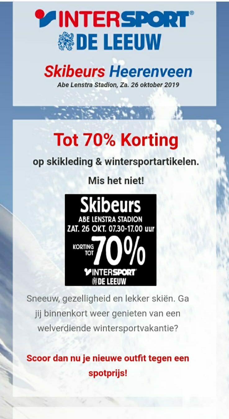 Skibeurs (outlet) in Heerenveen
