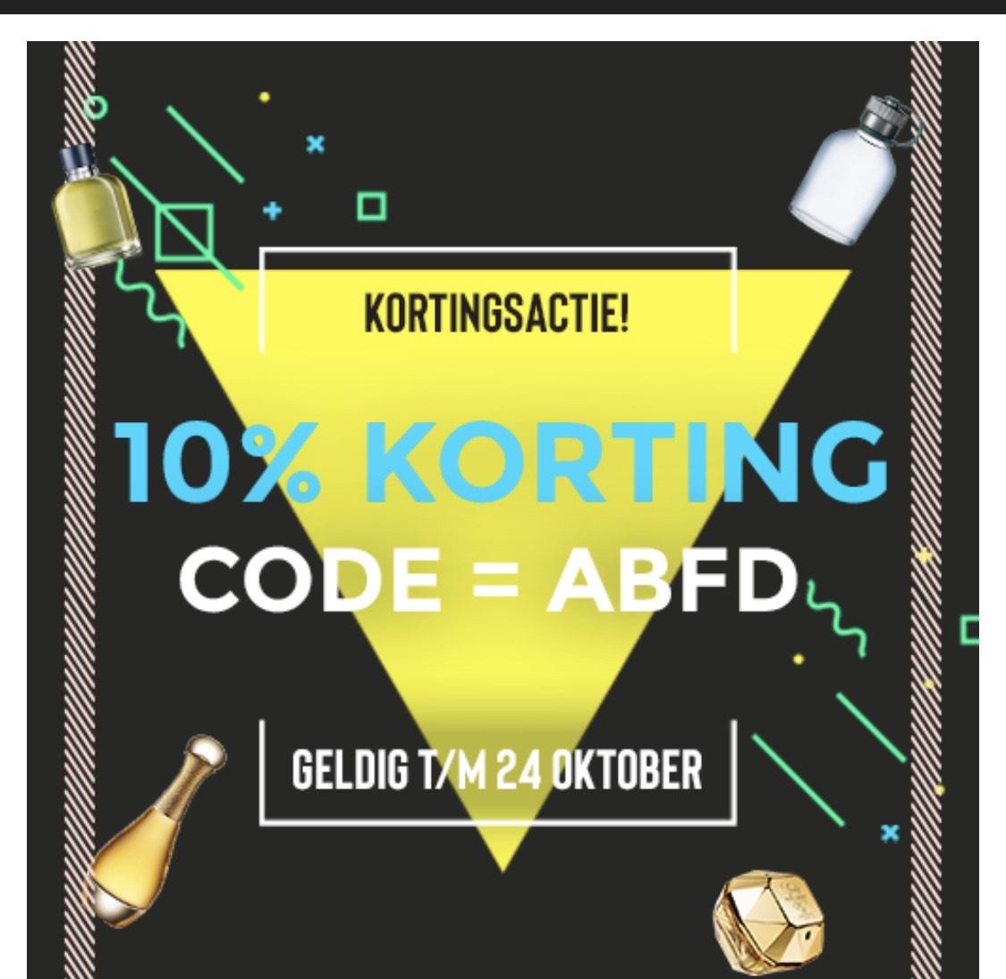 10% korting bij ParfumOutlet.nl