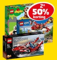 Alle LEGO en/of Playmobil 2e halve prijs @ trekpleister (online en in winkels)
