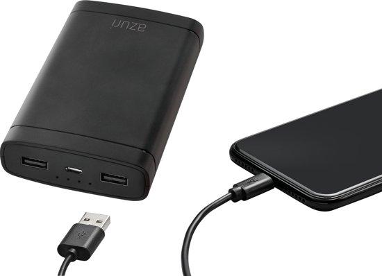 40% korting op Azuri powerbank 10.000 & 20.000 MAH met dubbele USB poort bij bol.com
