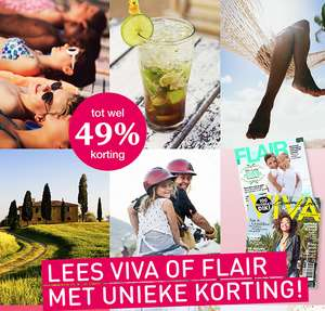 Abonnement op Viva of Flair met tot 49% korting @ Magazine.nl