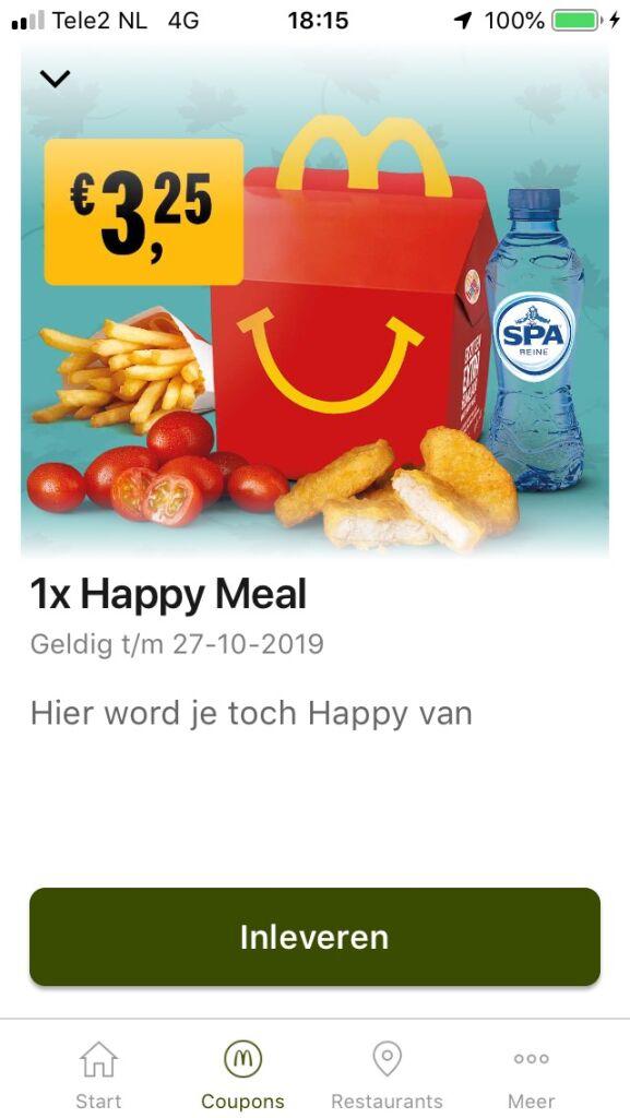 Happy Meal voor €3,25