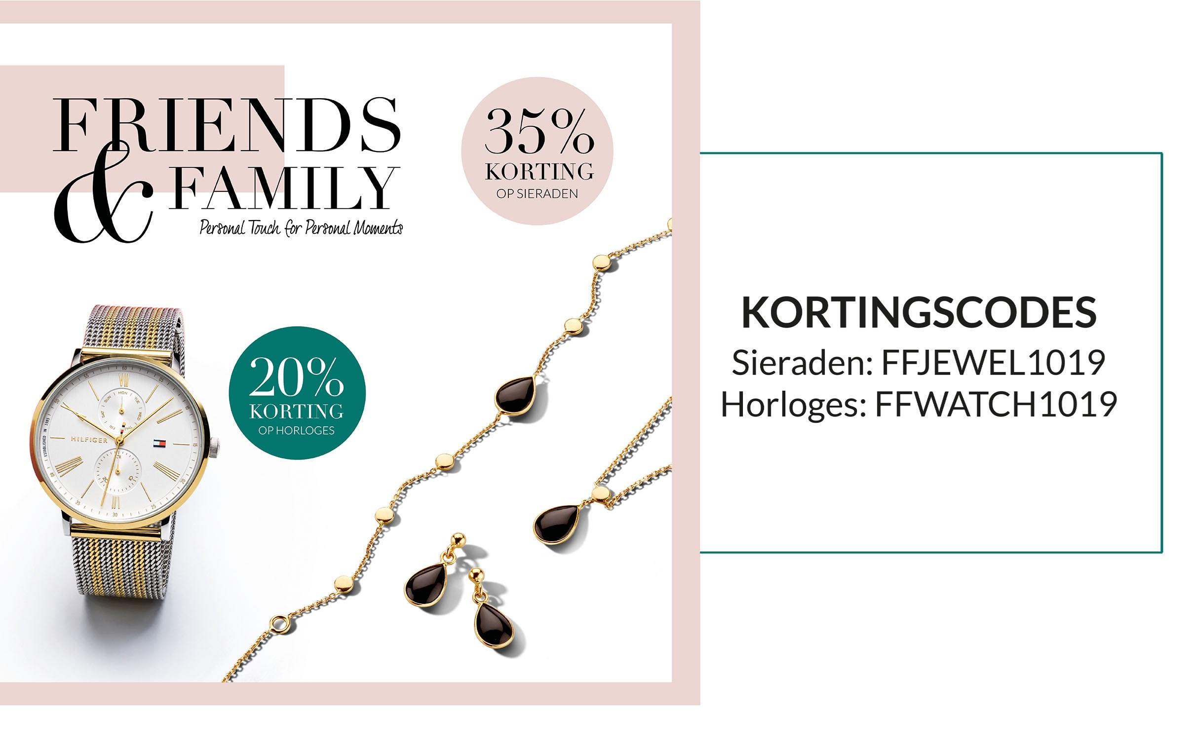 35% korting sieraden, 20% korting horloges Siebel Juweliers