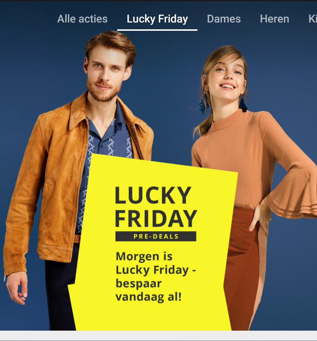 Zalando Lounge heeft al lucky friday deals online