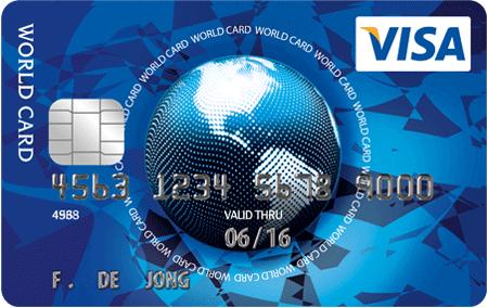 Eerste jaar gratis + €50 gratis saldo @ Visa World Card