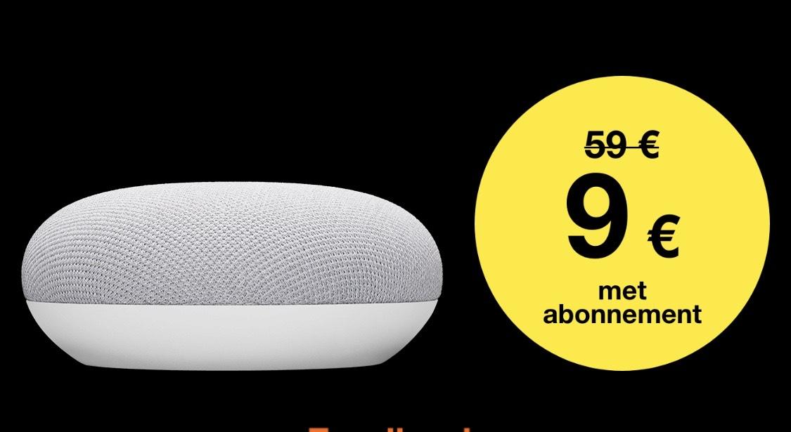(BELGIË) Google Nest mini voor €9 (of nest Hub voor €49) bij abonnement orange