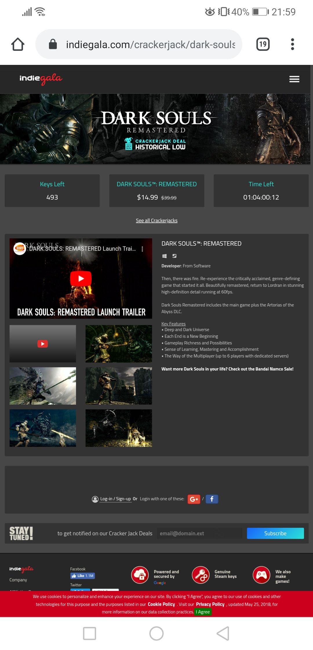 [Steam] [Indiegala aanbieding] Dark Souls Remastered