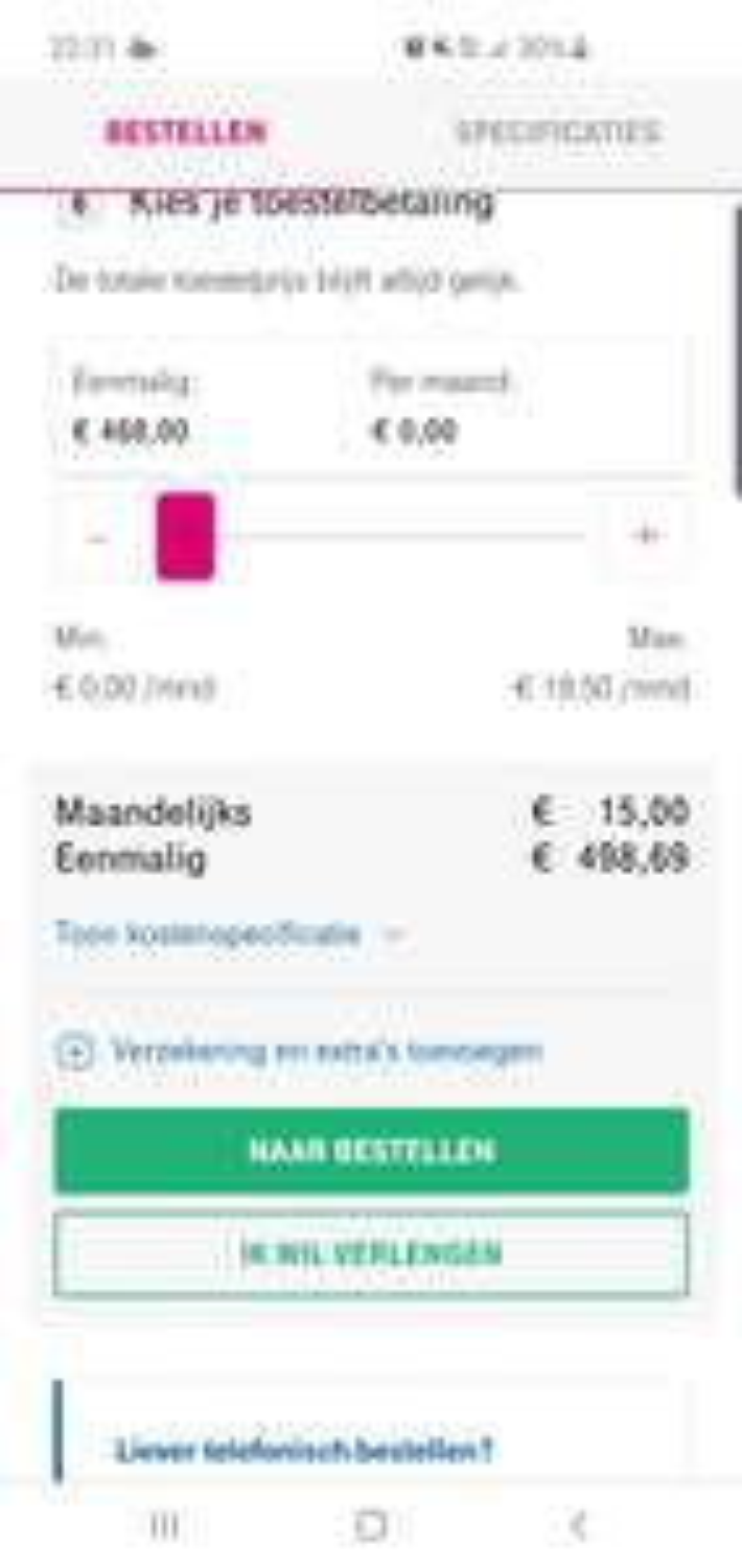SAMSUNG GALAXY S10 voor 468 incl battery pack i.c.m. abonnement