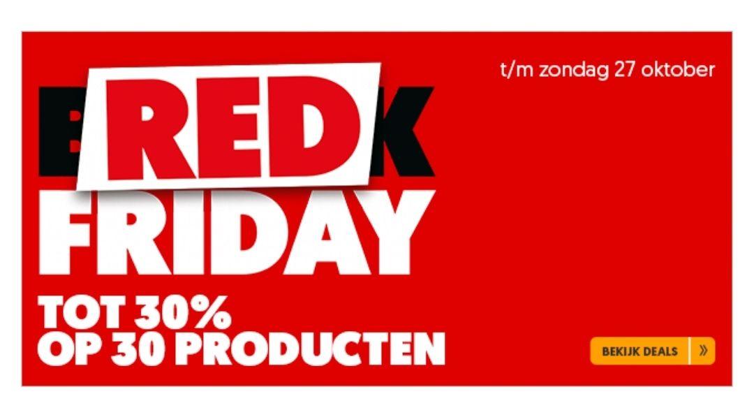 Red friday Black friday Mediamarkt tot 30 % korting