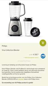 Philips Viva Collection Blender HR3553/00 voor €59,99 + 40 Eurosparen euro's