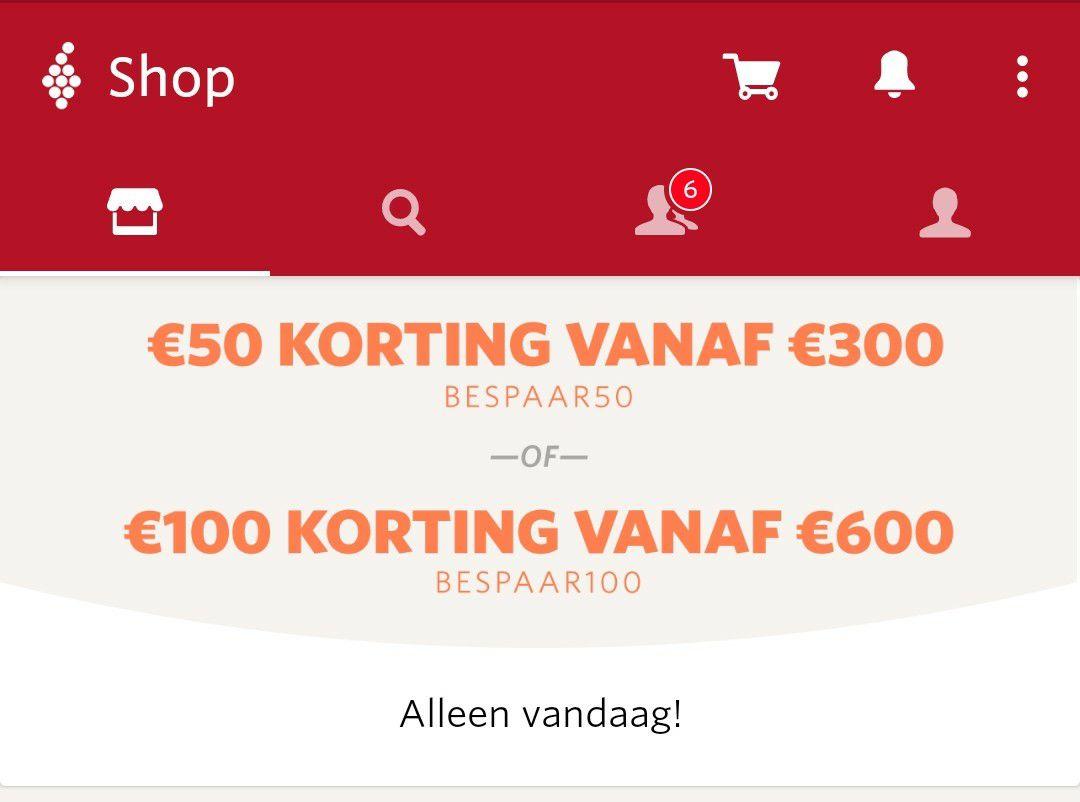 [Vivino] Bij grote bestelling €50 of €100 korting op wijn