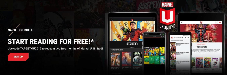 2 maanden gratis Marvel Unlimited met code TARGETMU2019