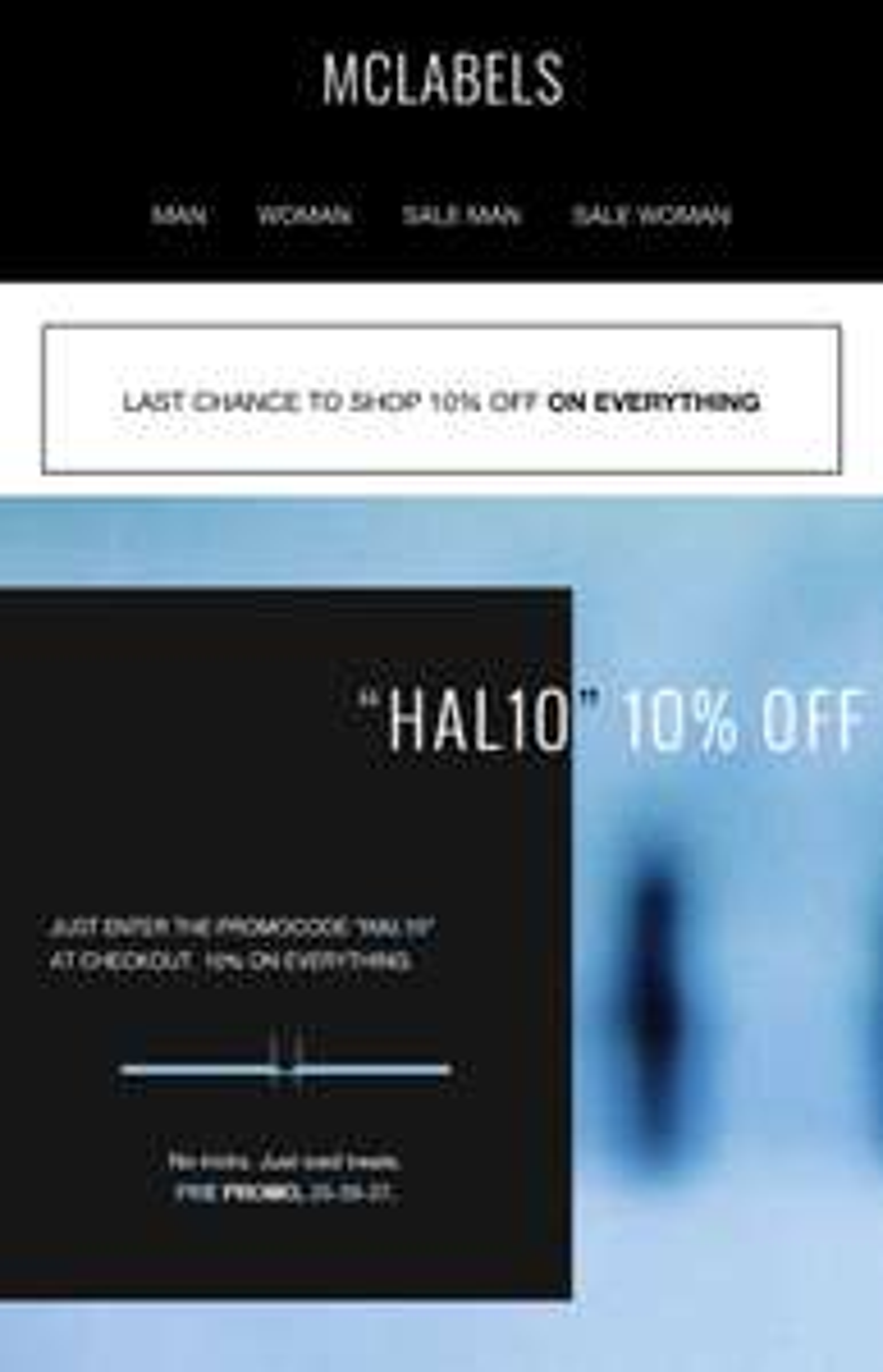 MCLABELS 10% designer korting alleen dit weekend