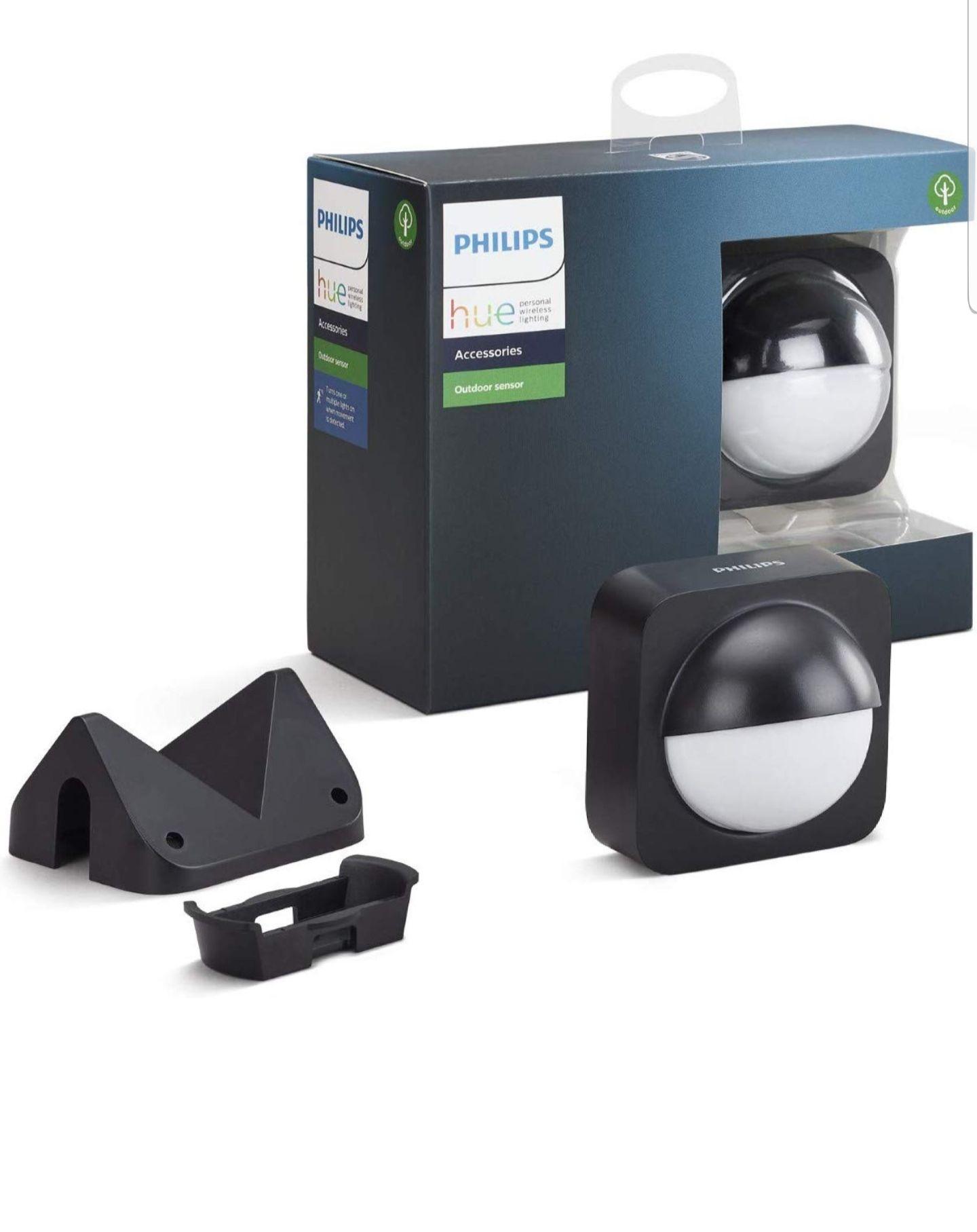 Philips Hue bewegingssensor voor buiten, geïntegreerde daglichtsensor, zwart