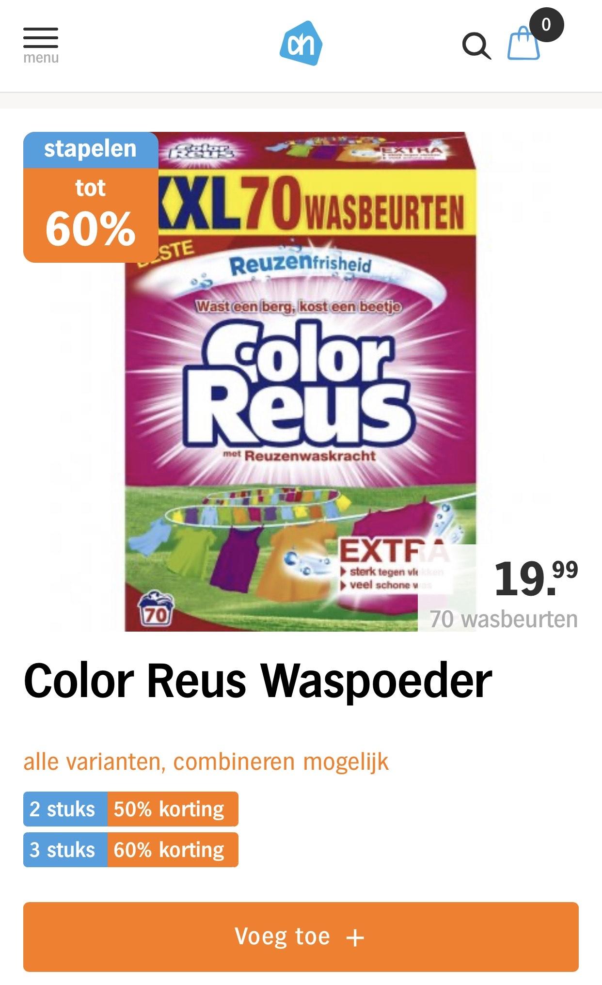 Color reus wasmiddel bij AH