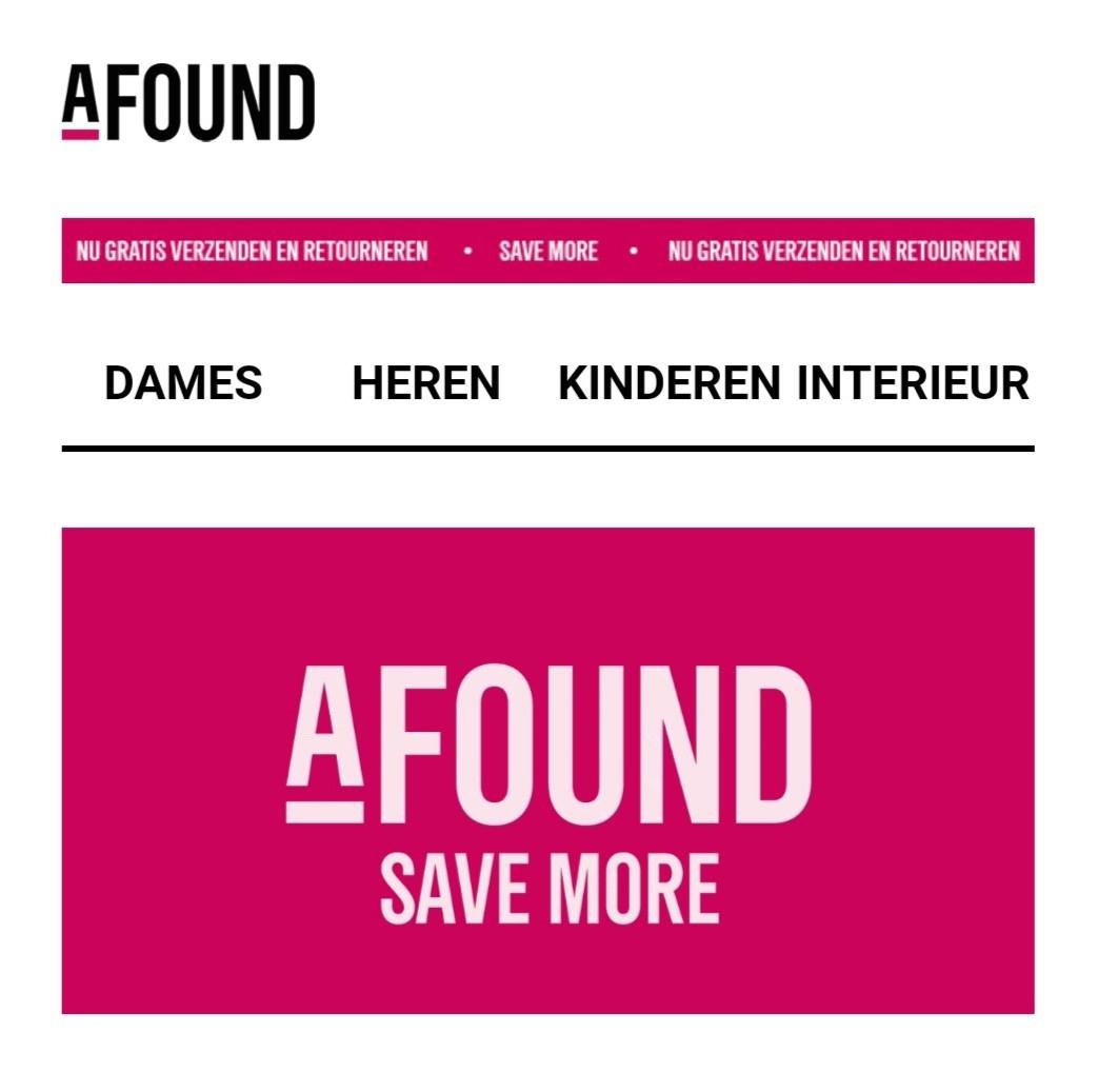 Afound: H&M Group outlet met korting van 25%-90%