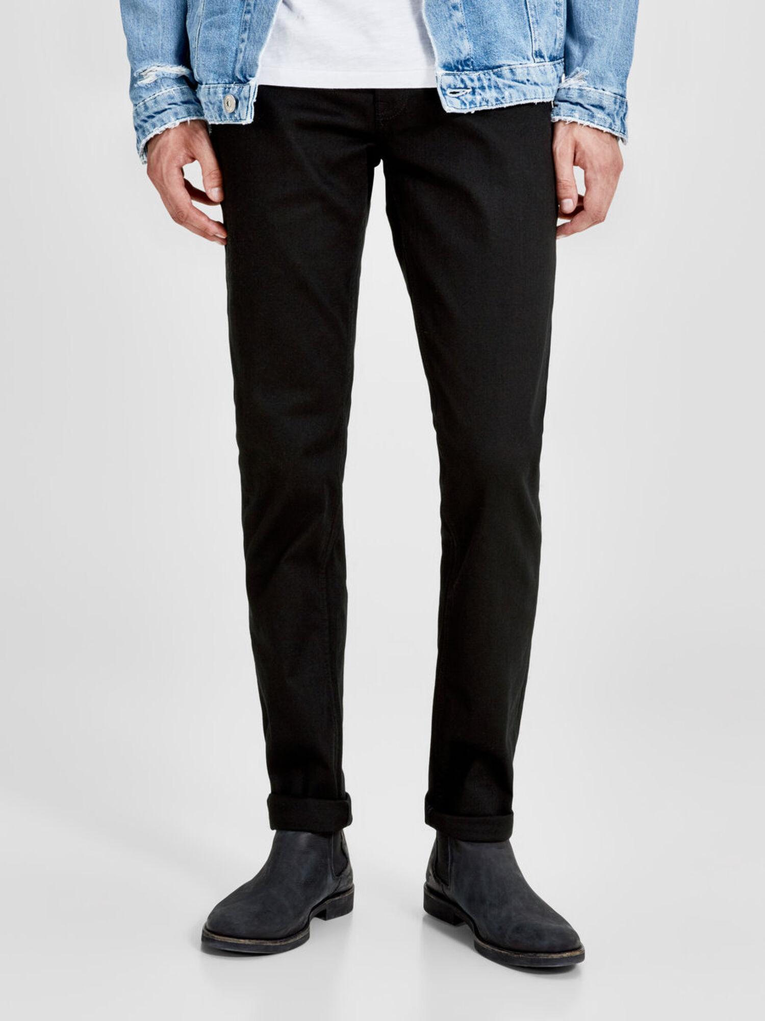 JACK & JONES Tim Original Cr 013 Slim Fit Jeans Heren Zwart